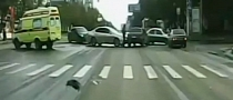 Bad Karma Causes Two Accidents in the Same Russian Intersection [Video]