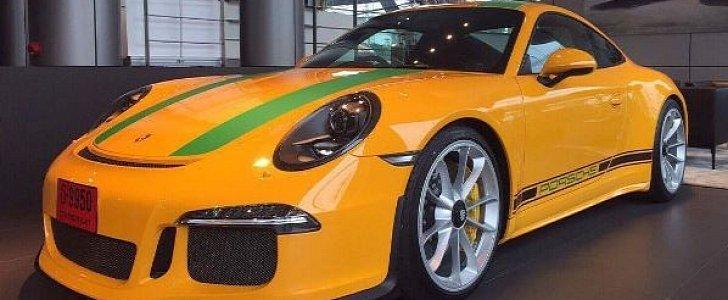 2017 Porsche Panamera Spec >> Banana Porsche 911 R Is Final PTS Car, Comes in Signal Yellow with Green Stripes - autoevolution