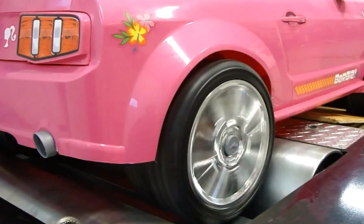Barbie Power Wheels Mustang Takes Dyno Test Autoevolution