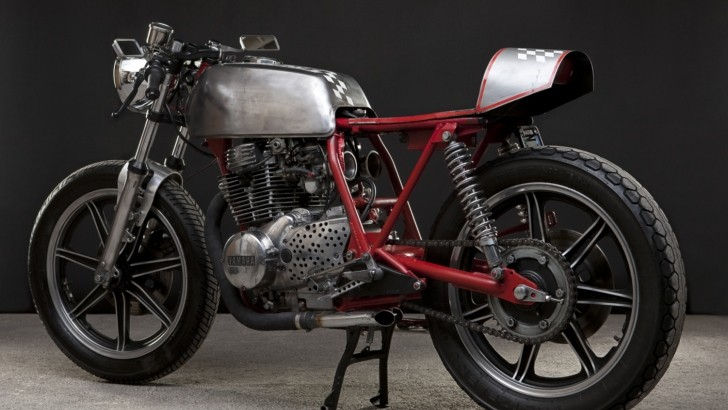 Bare Metal Yamaha XS360 by Sean Dunlap