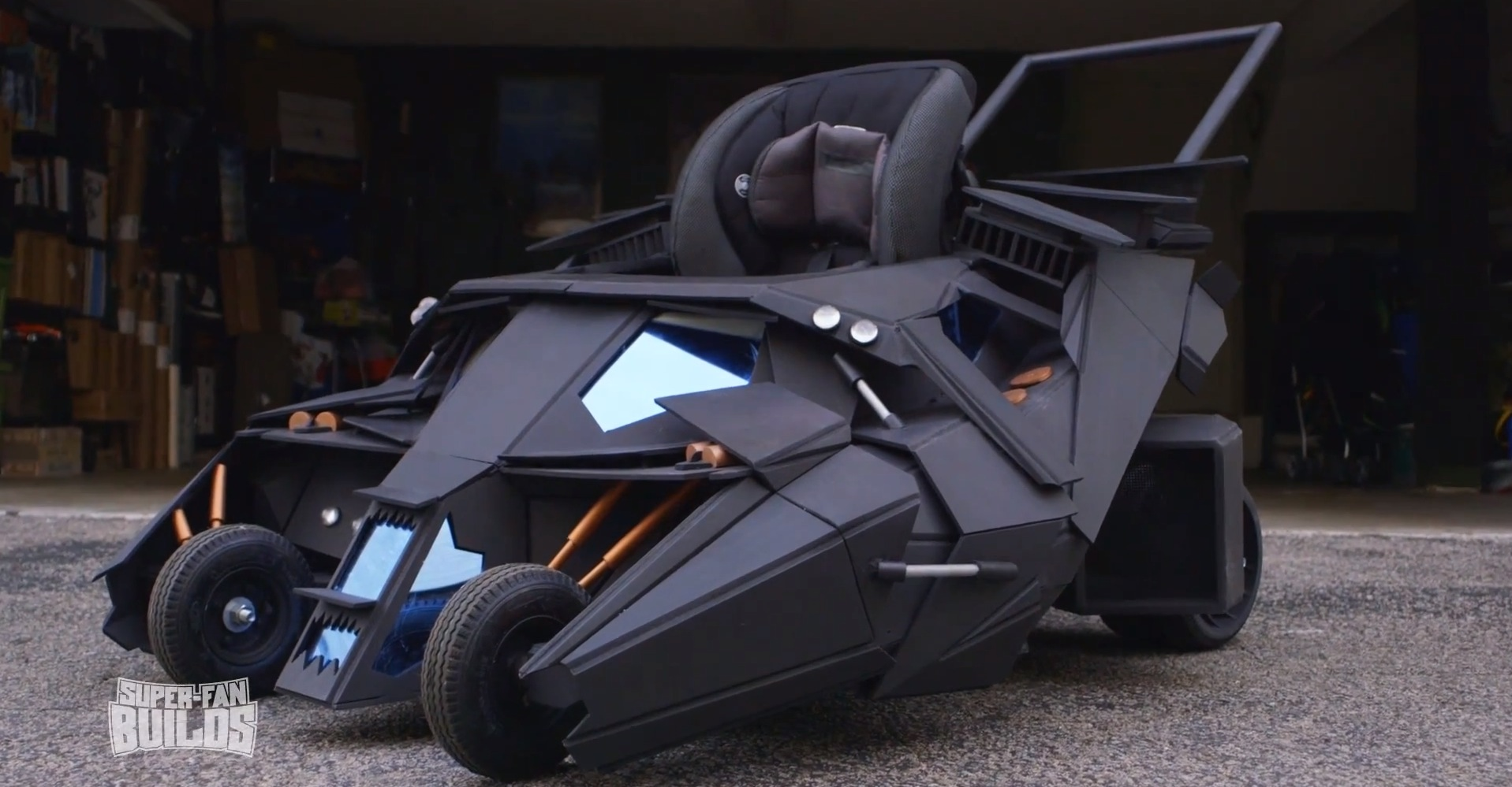 Batman S Tumbler Batmobile Turned Into Baby Stroller