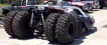 Batman's Tumbler Hits the Streets Preparing for 2013 Gumball 3000 [Video]