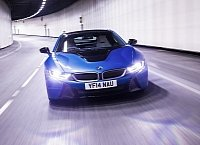 BMW i8 with laser headlights