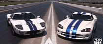 Battle of the Titans: 1,100 HP Viper vs. 1,100 HP Ford GT [Video]