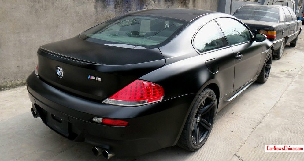 Beautiful Matte Black Bmw E63 M6 Spotted In China