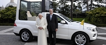 Benedict XVI Gets New Mercedes M-Class Popemobile