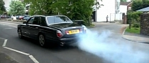Bentley Arnage One Wheel Burnout [Video]