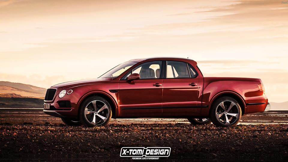Bentley Bentayga Pickup Rendered as The Forbidden Luxury Truck ...
