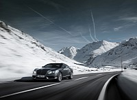 Bentley Continental GT V8  winter driving