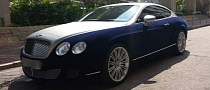Bentley Continental GT Wrapped in Blue Velvet