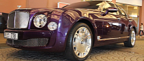 Bentley Mulsanne Looks Stunning in Purple... Or Not? [Video]