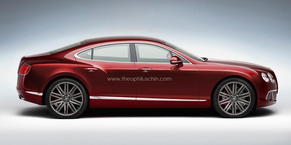 Bentley s future four door coupe gets rendered autoevolution