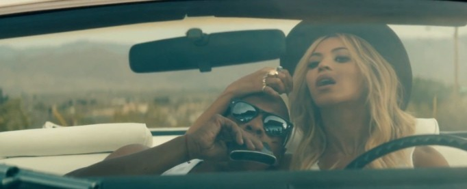 """Beyonce And Jay-Z Ride Cadillac Eldorado in """"On The Run ..."""