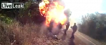 Bike Crashes, Catches on Fire, Finally Explodes [Video]