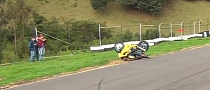 Bike Flips over Unlucky Stunt Rider [Video]