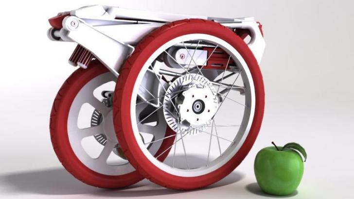 Collapsible Bikes Lightweight Folding Electric Bicycle