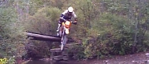 Bike Jump into Creek Fails Utterly with a Splash [Video]