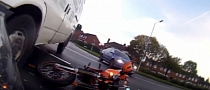 Bike vs Van, Nasty Crash POV [Video]