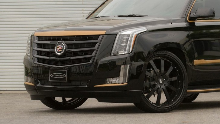 Black And Bronze 2015 Cadillac Escalade On Forgiato Wheels