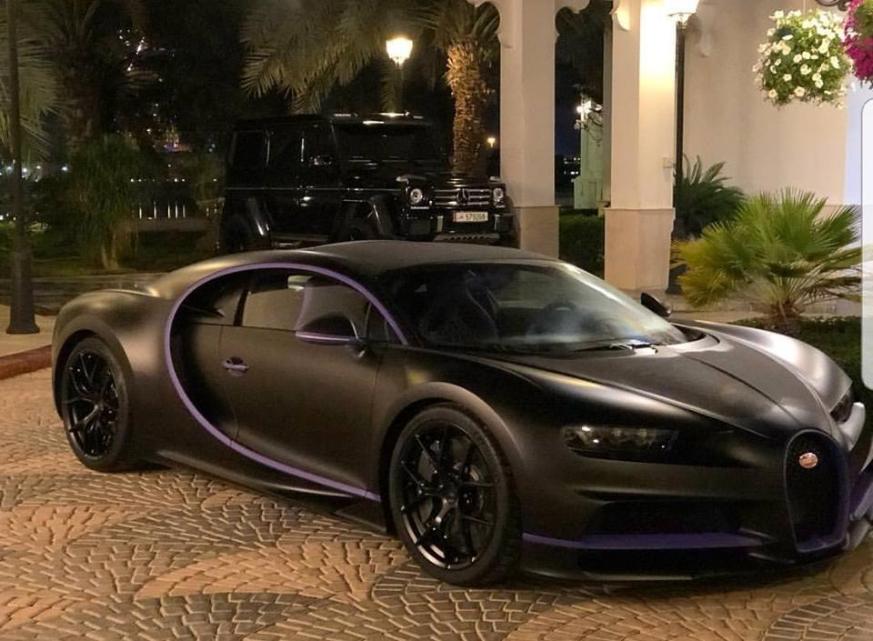 Black And Purple Bugatti Chiron Is The Car Of A Sheikh S