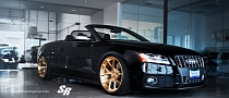 Black Audi S5 Gets Gold PUR Wheels