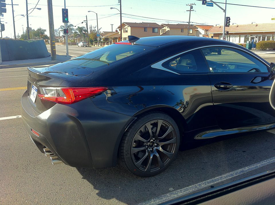 Black Lexus Rc F Spotted Again Look At Those New Rims
