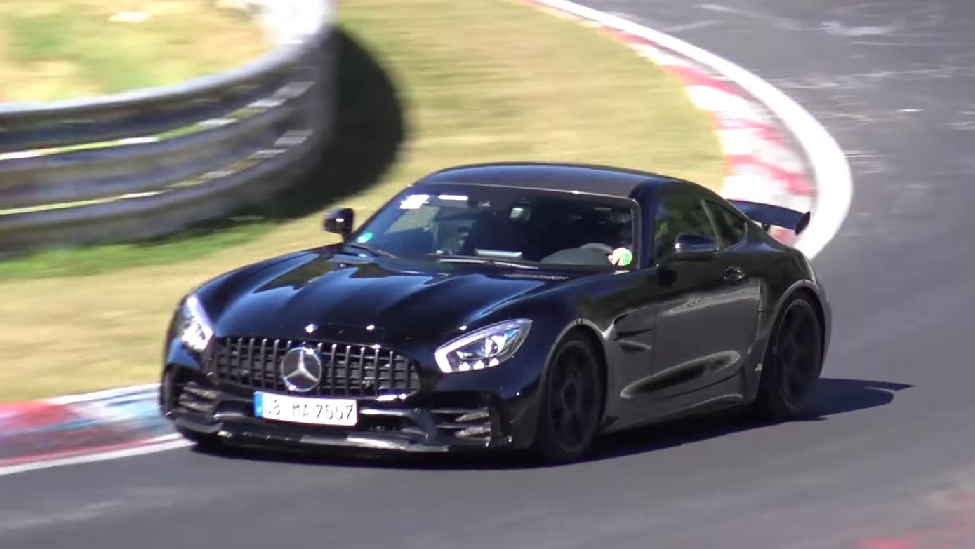 black mercedes amg gt r does insane nurburgring passes. Black Bedroom Furniture Sets. Home Design Ideas