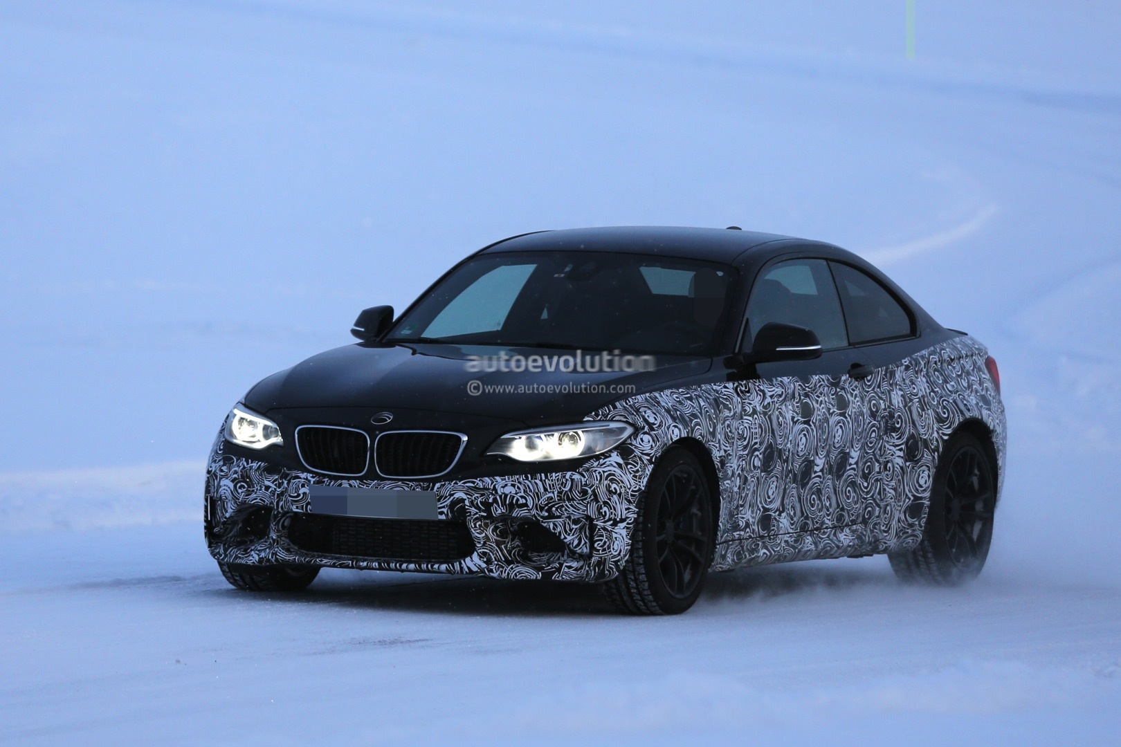 black on black 2016 bmw f87 m2 spied testing in sweden. Black Bedroom Furniture Sets. Home Design Ideas