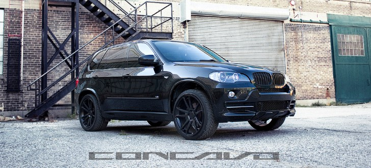 Black on Black BMW E70 X5 Rides on Concavo Wheels [Photo Gallery]
