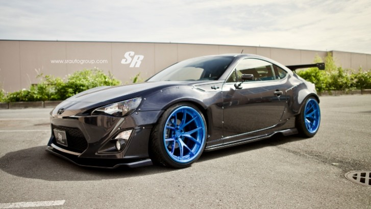 Black Rocket Bunny Scion FR-S Rides on PURs [Photo Gallery]