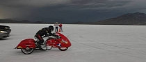 Blind Rider Dan Parker Does 55 MPH at Bonneville