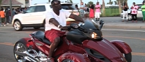 Blinged Can-Am Spyder Roadster Spotted at Myrtle Beach [Video]