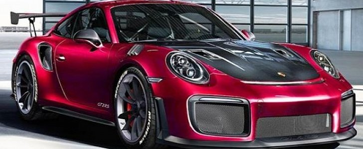 blood red 2018 porsche 911 gt2 rs rendered as eye candy autoevolution. Black Bedroom Furniture Sets. Home Design Ideas