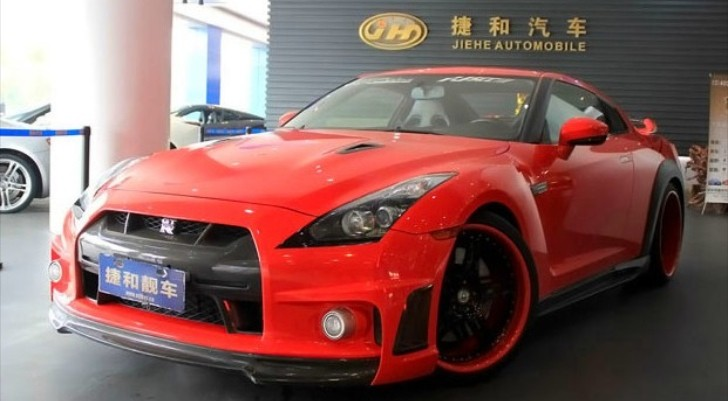 Blood red nissan gt r gets bodykit in china autoevolution for Nissan gtr bodykit