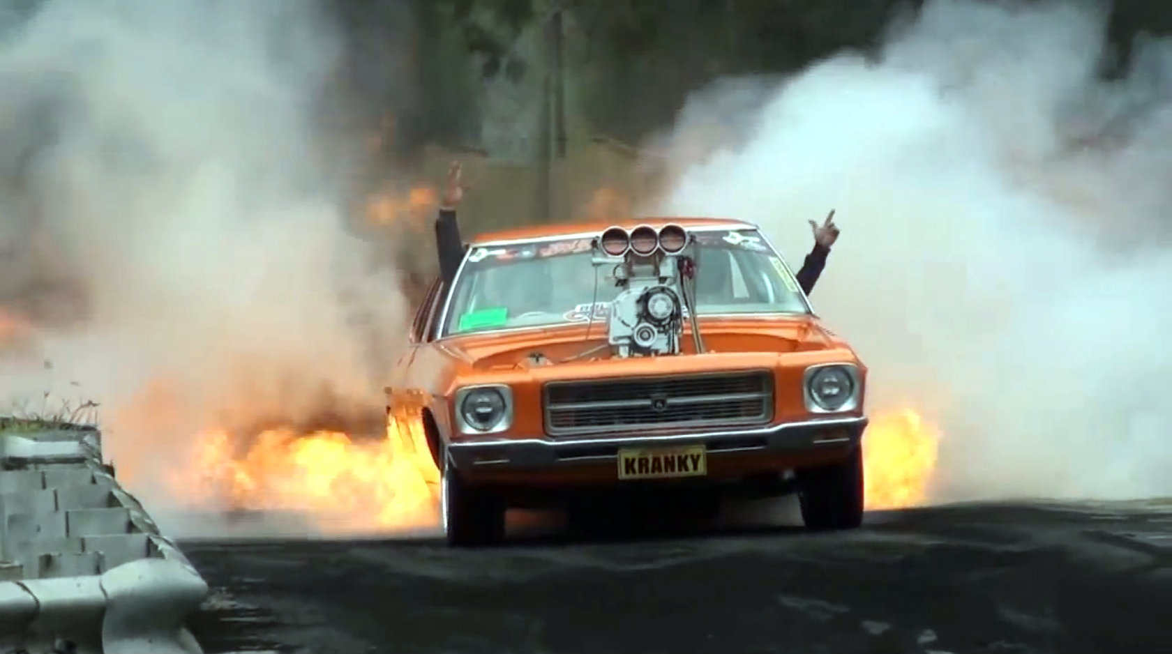 Blown Holden Hq Does The Most Fiery Burnout Ever
