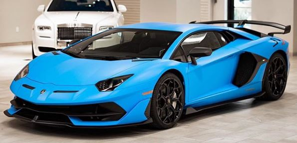 Blu Seiler Lamborghini Aventador Svj Shows Striking Matte Baby Blue