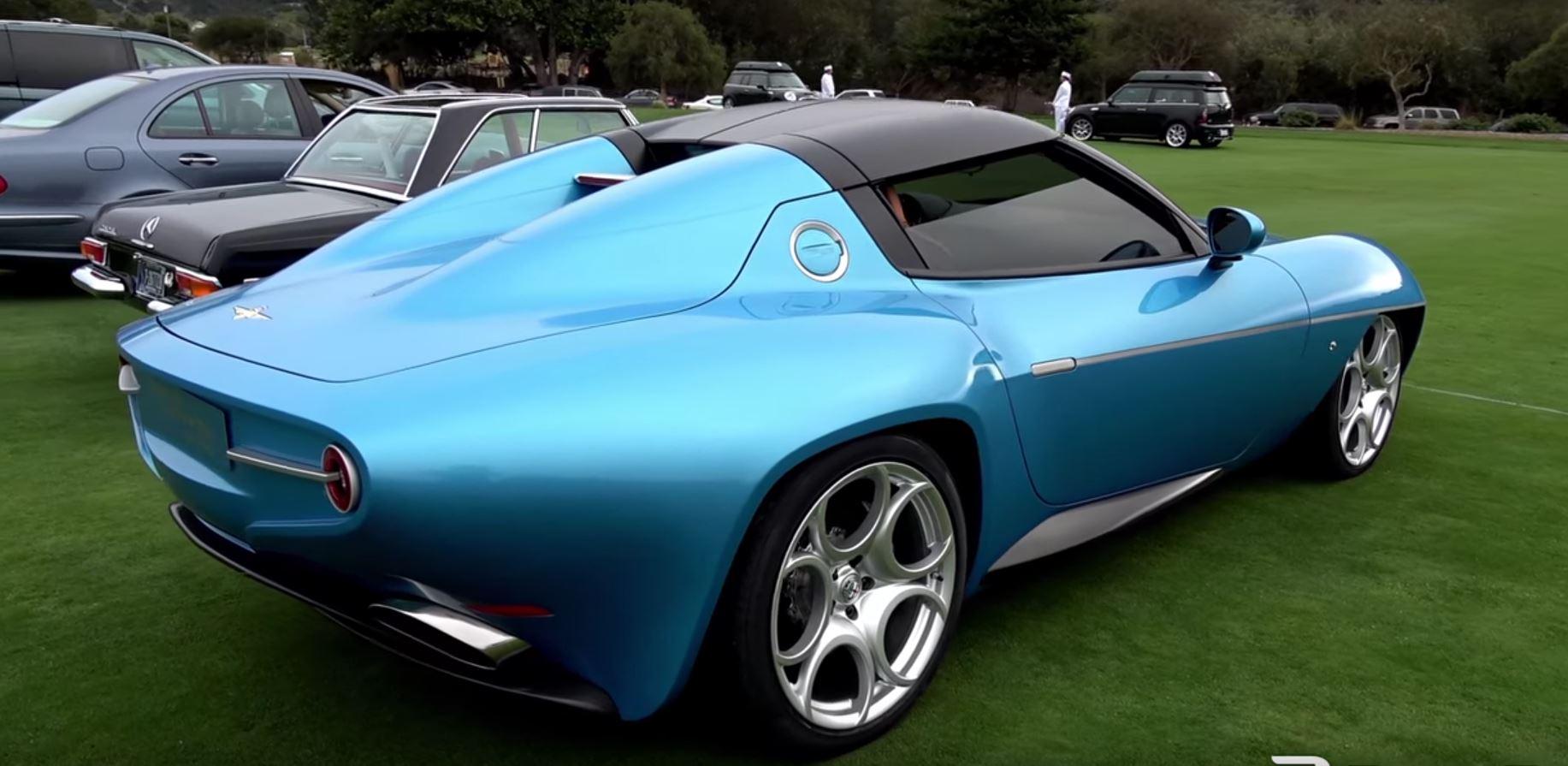 alfa romeo disco volante blue blue alfa romeo disco volante spyder looks stunning at monterey car week autoevolution