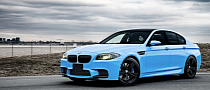Blue BMW F10 M5 Wrap from Restyle It [Photo Gallery]