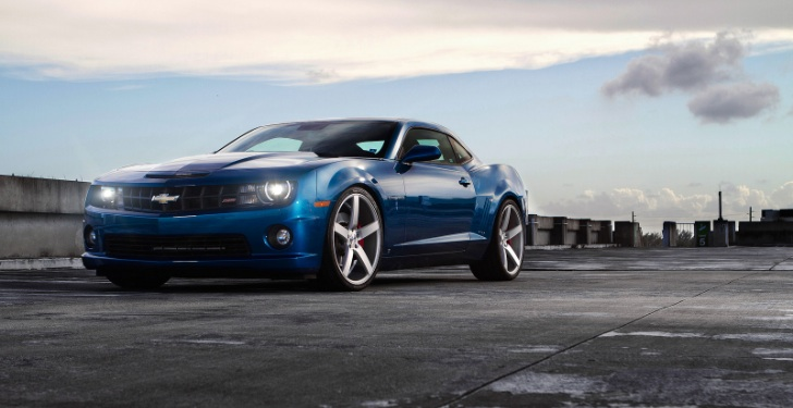 Blue Camaro SS on 22-Inch Concave Wheels [Photo Gallery]