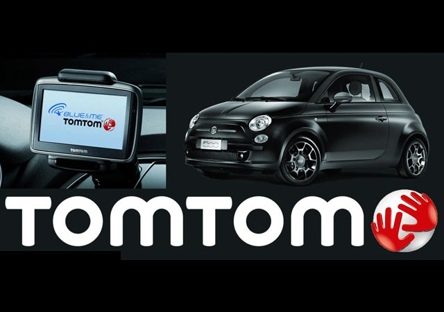 blue me tomtom makes us debut in new fiat 500 autoevolution. Black Bedroom Furniture Sets. Home Design Ideas