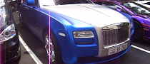 Blue Metallic Rolls Royce Ghost in London [Video]