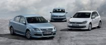 BlueMotion VW Polo, Golf and Passat at Frankfurt