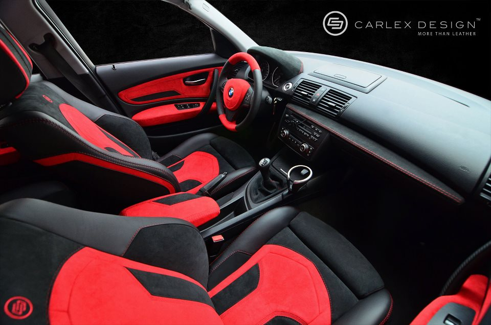 bmw 1 series red and black interior by carlex. Black Bedroom Furniture Sets. Home Design Ideas