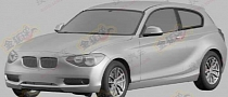 BMW 1-Series Three-Door Leaked via Patent Images