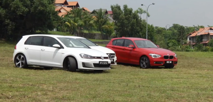BMW 125i vs Golf GTI vs Mercedes-Benz A250 vs Volvo V40 Comparison Test [Video]