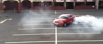 BMW 1M Coupe Bakes Donuts at the Mall [Video]