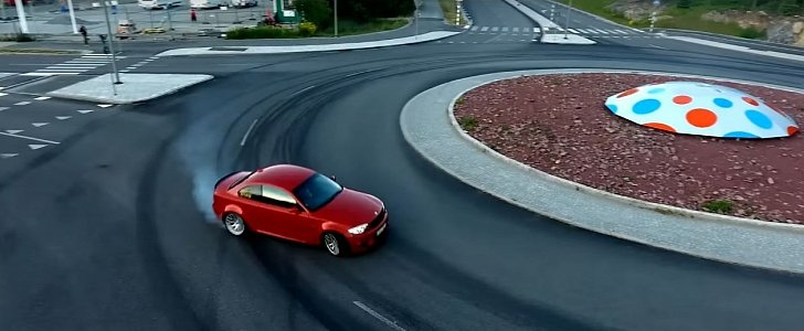 Bmw Roundabout Drifting And Street Burnouts In Sweden Is How