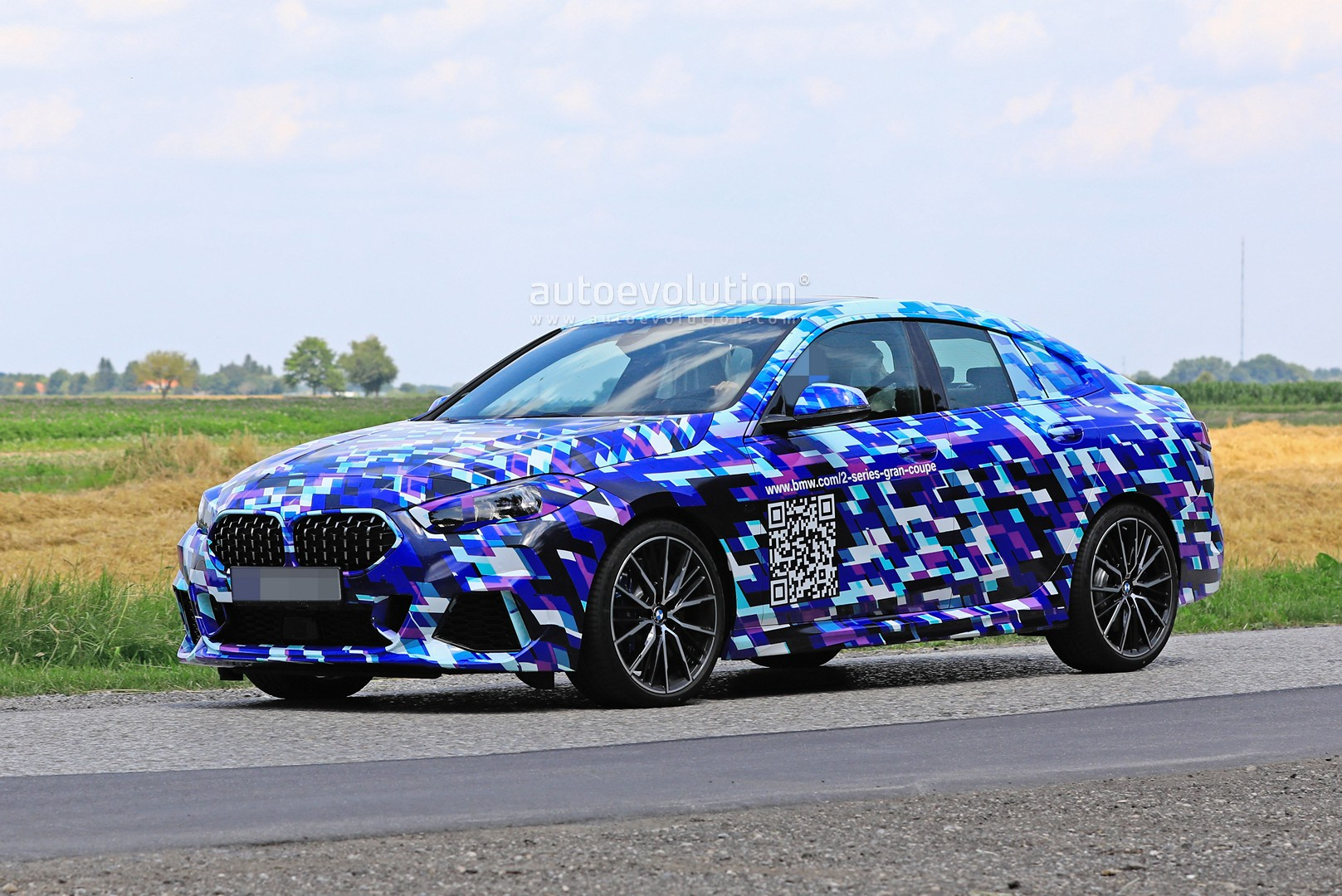 BMW 2 Series Gran Coupe Shows New Details. Blue Camo Looks ...
