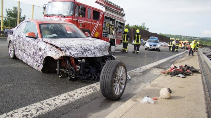 BMW 2 Series Prototype Crash Closes Autobahn [Photo Gallery]