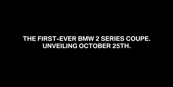 BMW 2 Series Will Be Unveiled on October 25th [Video]